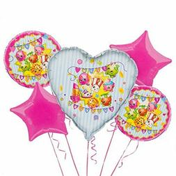 team shopkins foil balloon bouquet 5 balloons