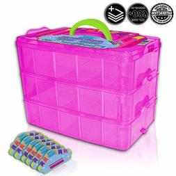 Tiny Toy Box Shopkins Storage Case Organizer Container -Comp