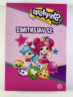 Valentines Day Cards Shopkins Classroom Kids 32 Count
