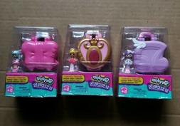 X 3 - SHOPKINS Lil'Secrets Locket Teeny Shoppie Doll + Shopk